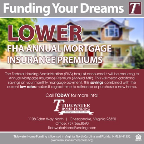 FHA Reduces Annual Mortgage Insurance Premiums