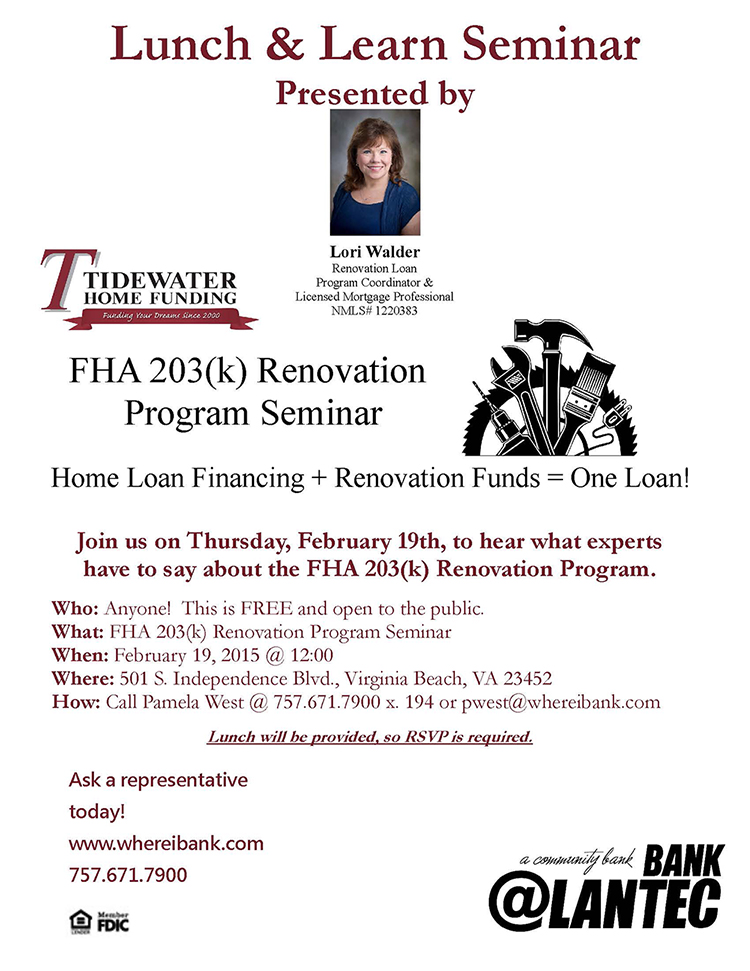 Lunch & Learn Bank @LANTEC Feb 19