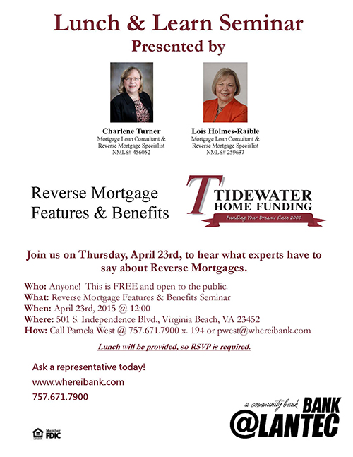 Reverse Mortgage Lunch & Learn