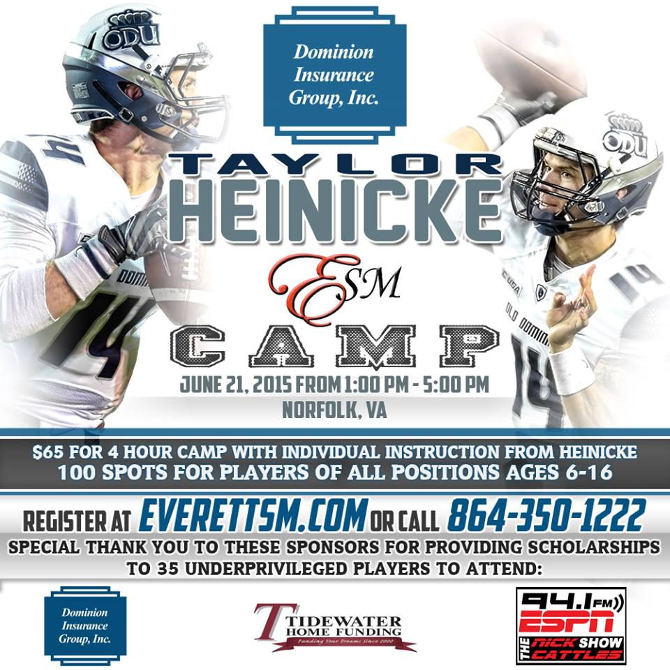 Taylor Heinicke Football Camp